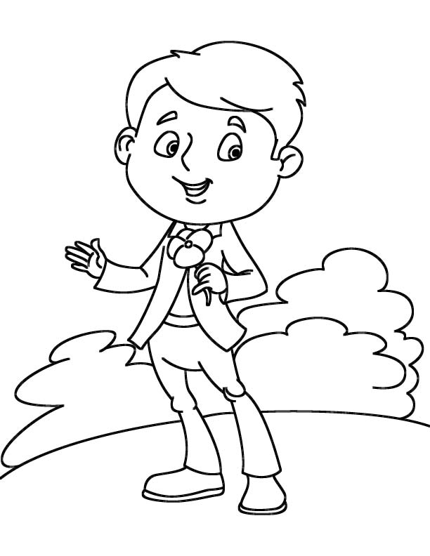 Pansy lover coloring page