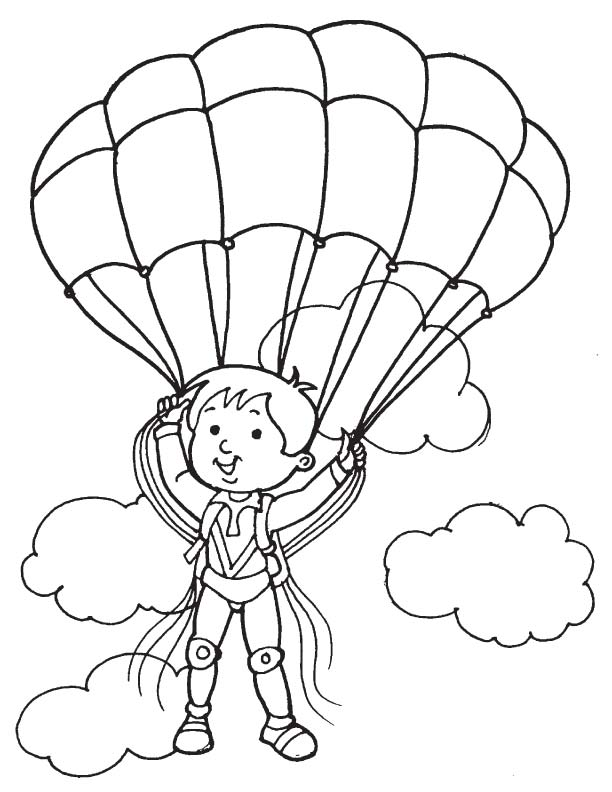 Paratrooper In Cloud Coloring Page Download Free Paratrooper In Cloud Coloring Page For Kids Best Coloring Pages