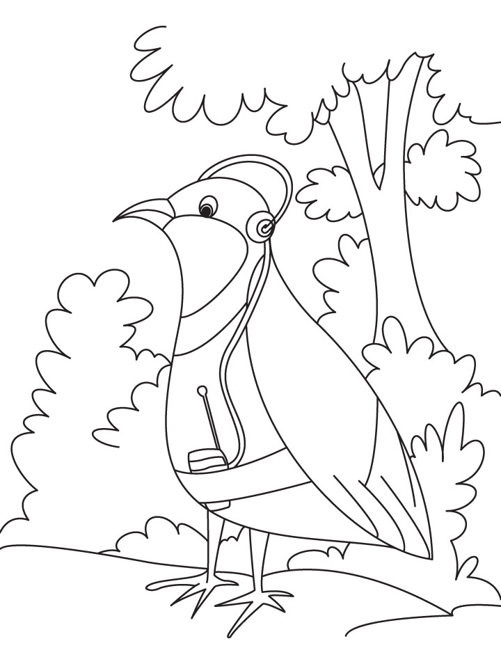 Kids listening colouring pages for Listening coloring pages