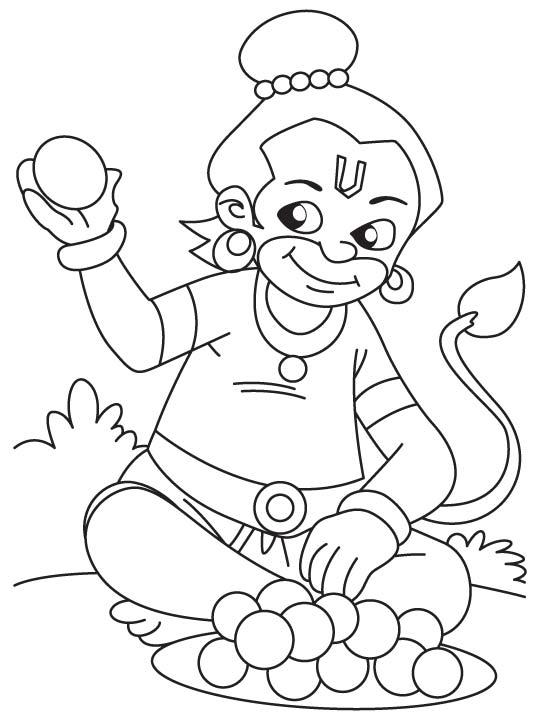 D Duck Coloring Page Pavan putra eating lad...