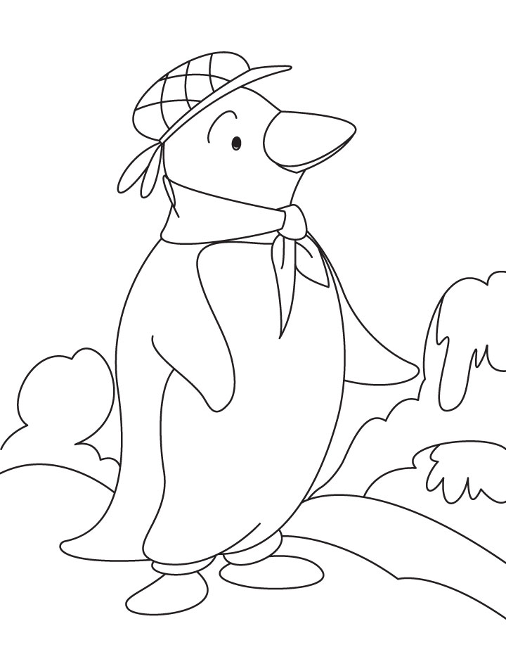 waddles the penguin coloring pages - photo #30
