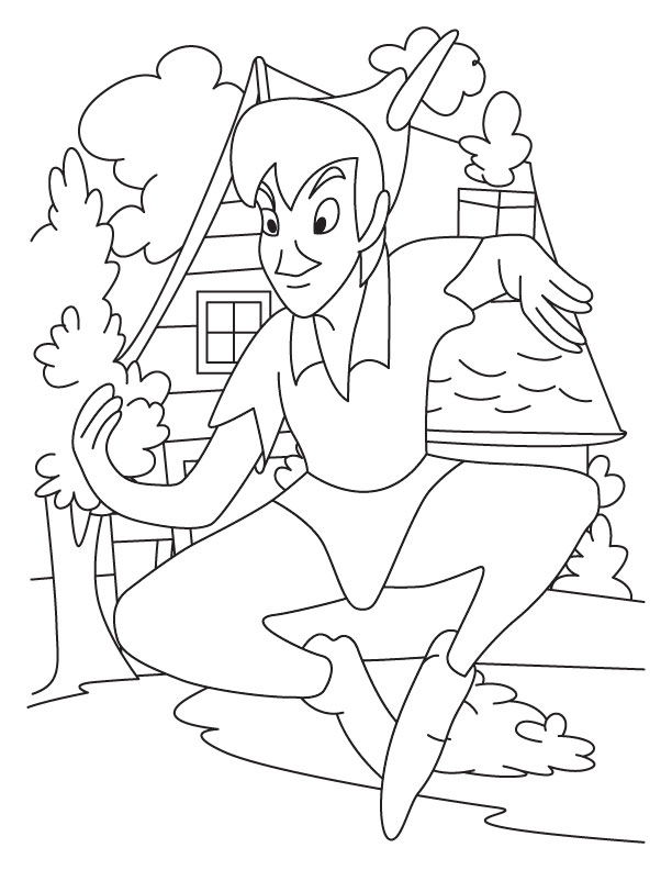 Peterpan coloring pages 8