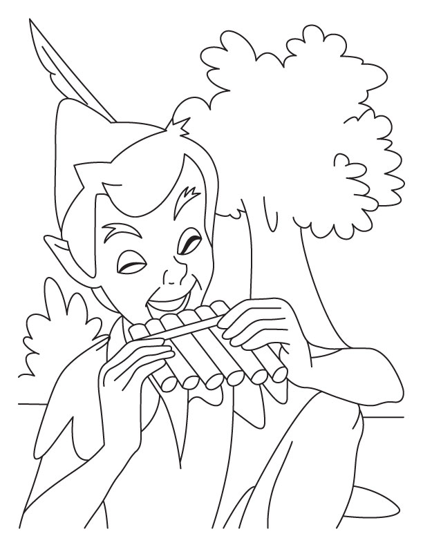 Peterpan coloring pages 4