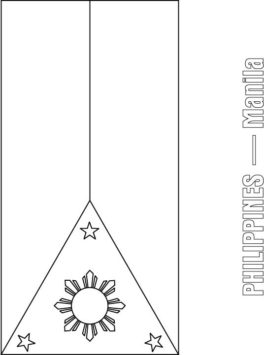 Philippines flag coloring page