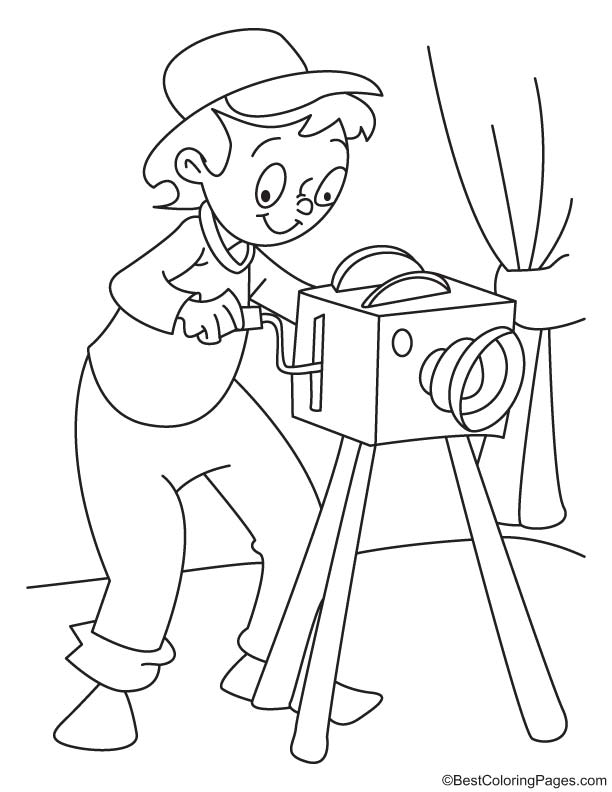 Photographer coloring page