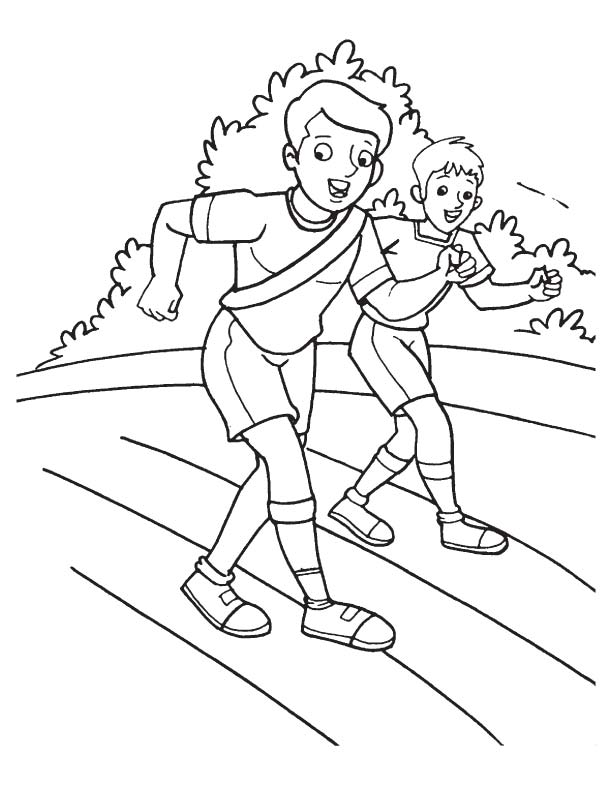 Physically disabled racing coloring page