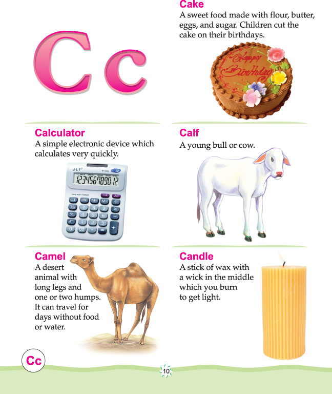 Printable picture dictionary alphabet c | Download Free Printable