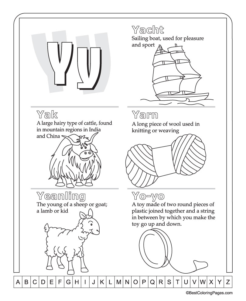 my first picture dictionary alphabet y download free my first