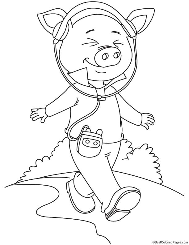 coloring pages walk - photo#29
