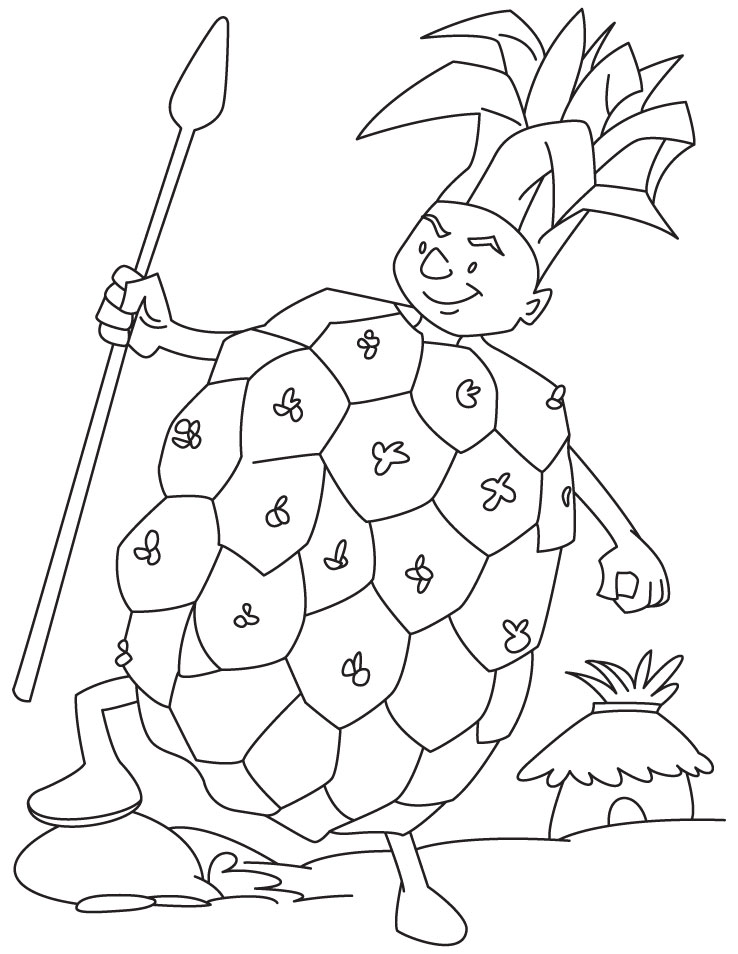 Pineapple guard coloring pages