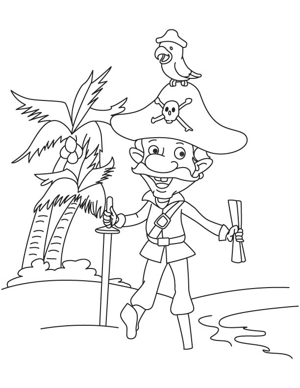 Free Coloring Pages Of Pirate Parrot Pirate Parrot Coloring Pages