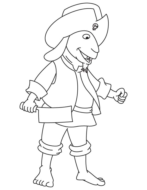 Pirate goat coloring page