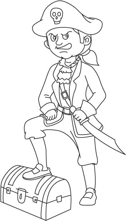 Pirate of the Carribean coloring page