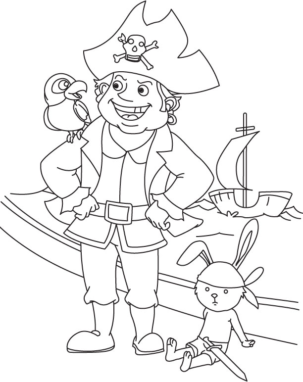 Pirates group coloring page