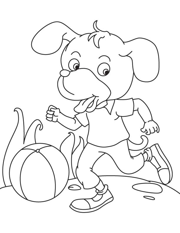 Playing Football Coloring Page Download Free Playing