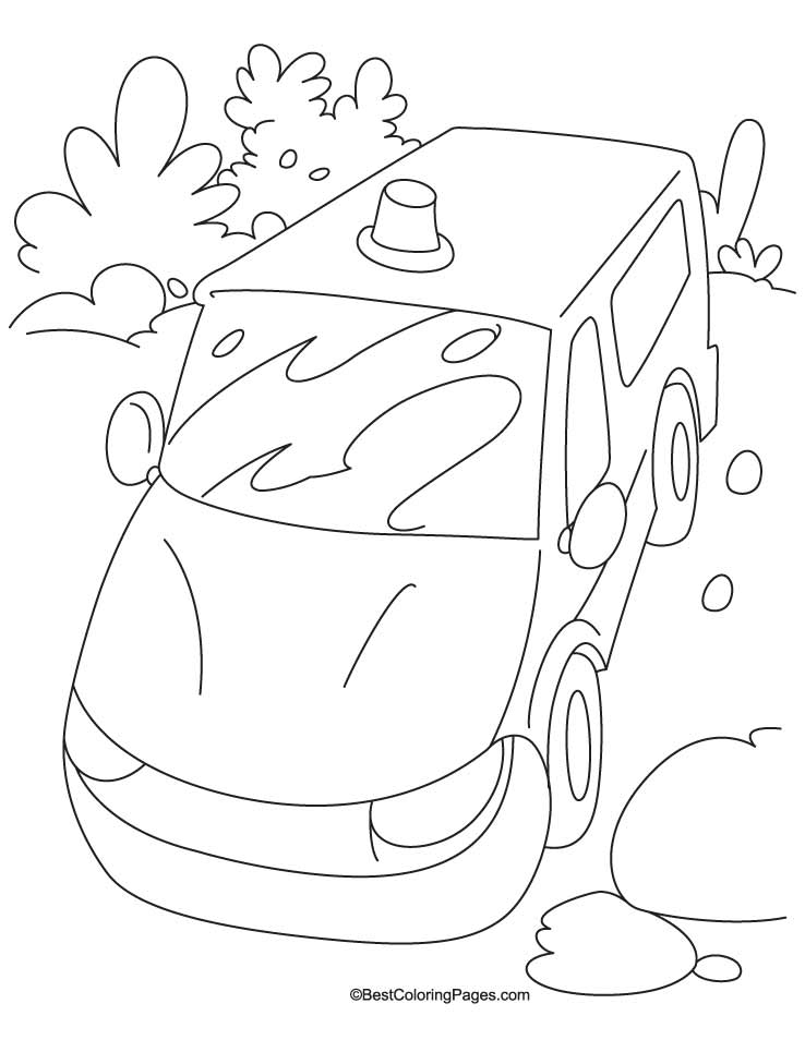 police petrol jeep coloring page - Jeep Coloring Pages