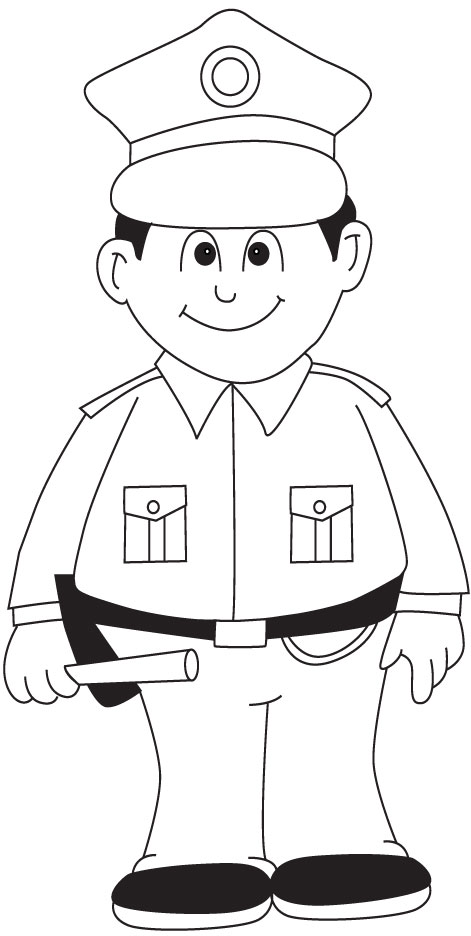 policeman coloring pages kids - photo#8