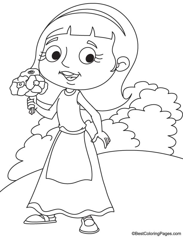 Poppy Flower Coloring Page