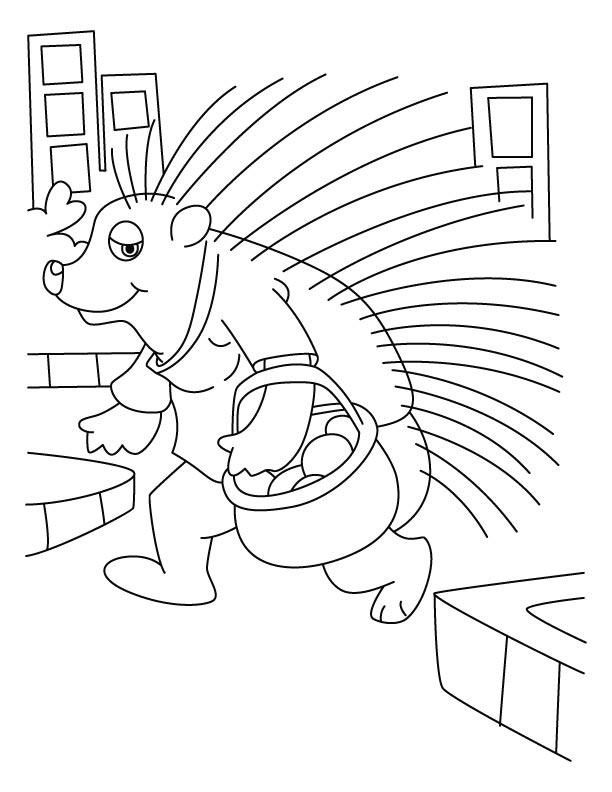 Porcupine a quill pig coloring pages