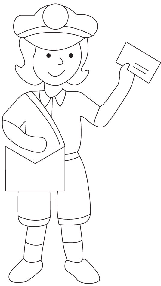 mailman coloring pages postman coloring page download free postman coloring