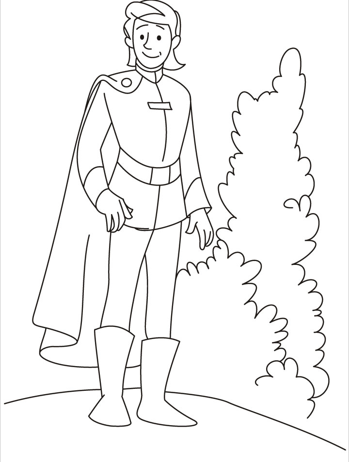 A young prince looking for something coloring pages  Download