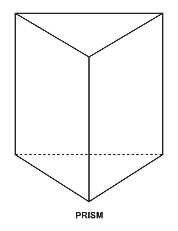 Shapes Of Prisms - Free Colouring Pages Rectangular Prism Buildings