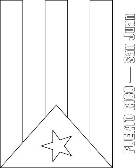 Puerto Rico Flag Coloring Page Download Free Puerto Rico