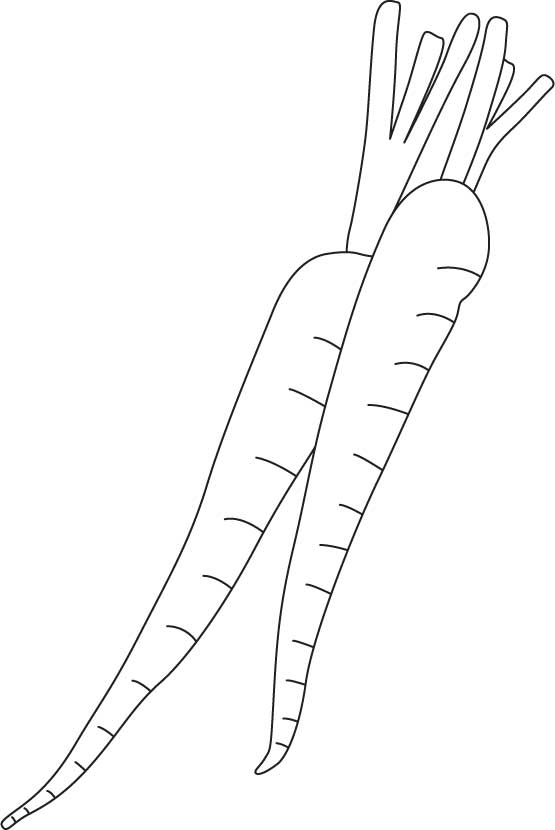 Purple carrot coloring page