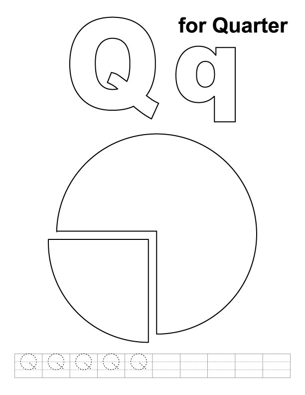 coloring pages q - quarter free coloring pages