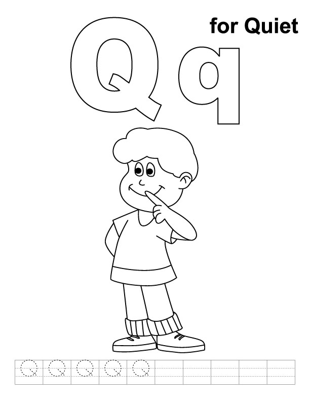 q coloring pages for kids - photo #29