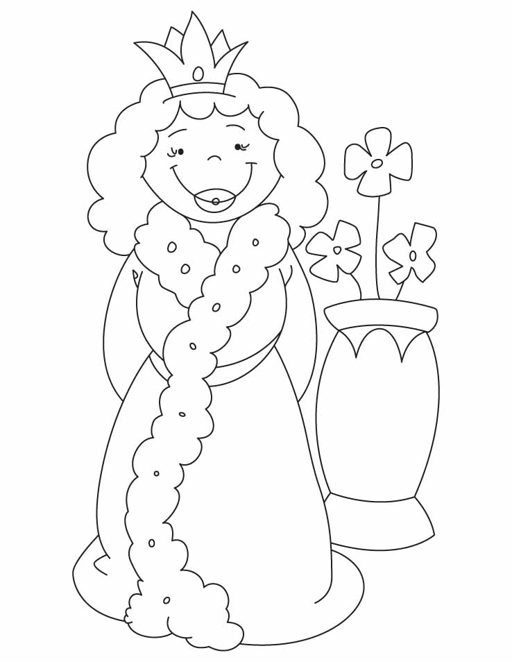 Queen And Vase Coloring Pages