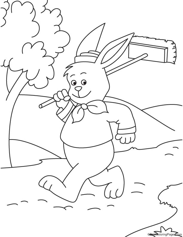 mop coloring book coloring pages
