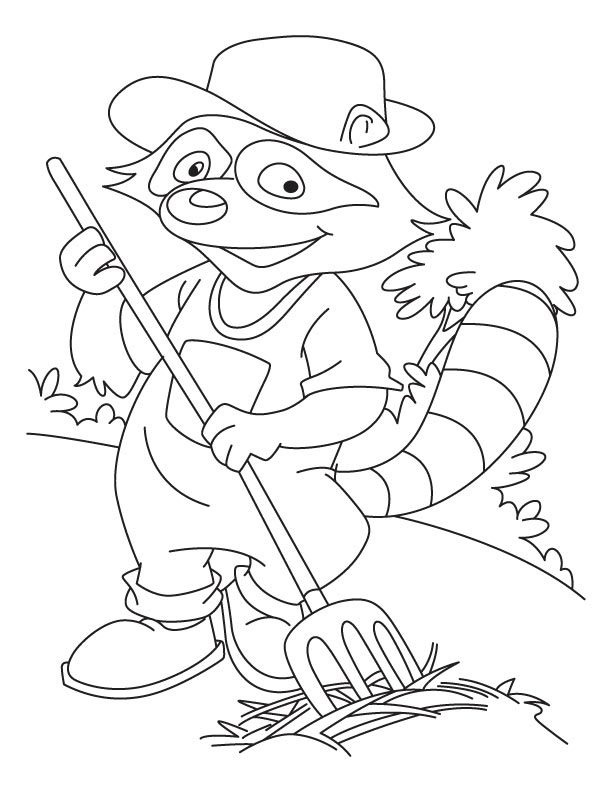 10 Chester Raccoon Coloring Page