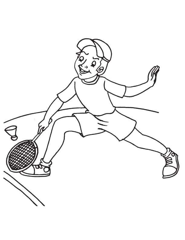 Racket sport coloring page