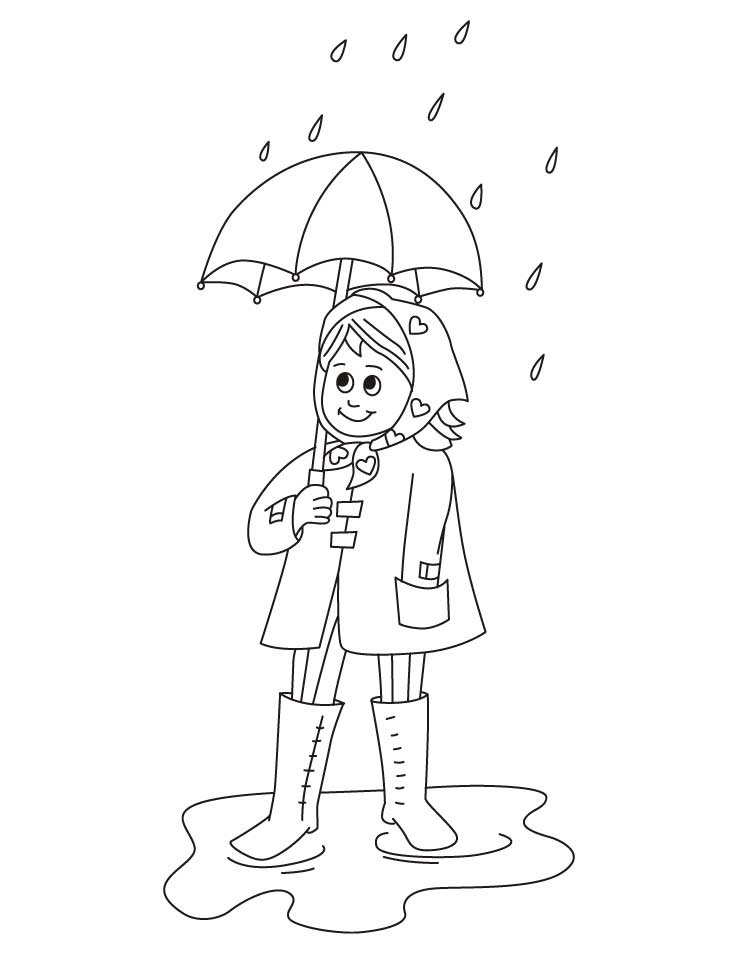 Rainy Dress Coloring Pages