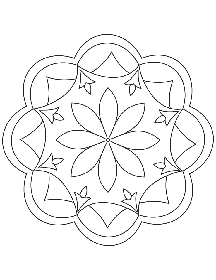 Free Rangoli Pattern Coloring Pages Rangoli Coloring Pages