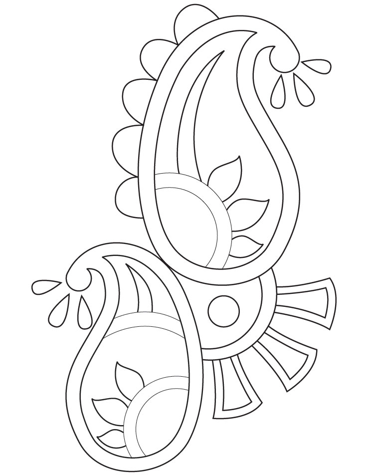 Rangoli Patterns Coloring Pages