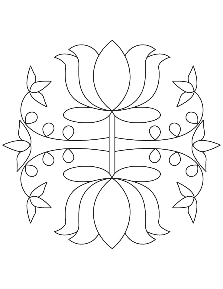 rangoli coloring pages  Coloring Pages For Kids and All Ages