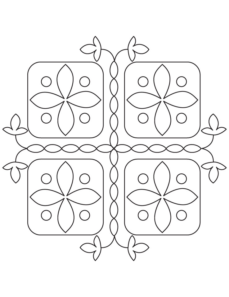 Rangoli Coloring Pages | Pattern coloring pages, Coloring pages ... | 954x738