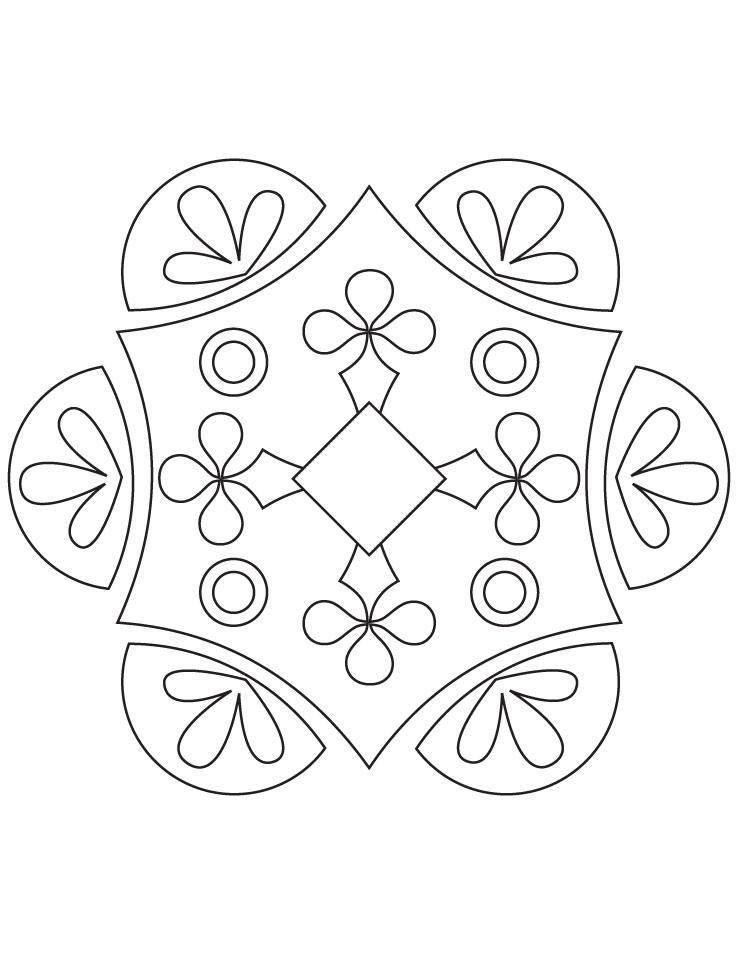 Rangoli Coloring Page