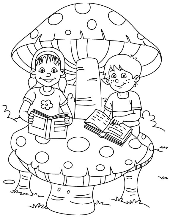 Reading coloring page Download Free Reading coloring page for