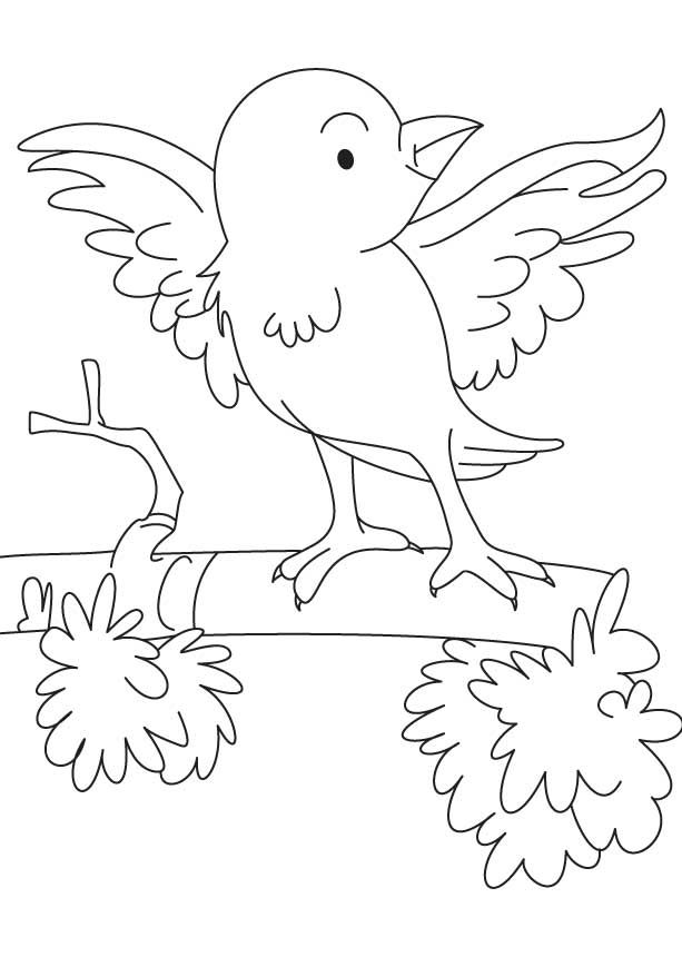 Ready to fly coloring page
