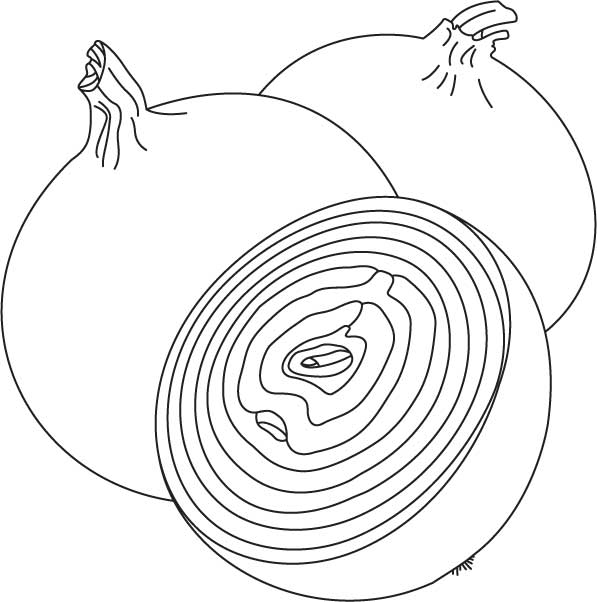 red onions coloring page