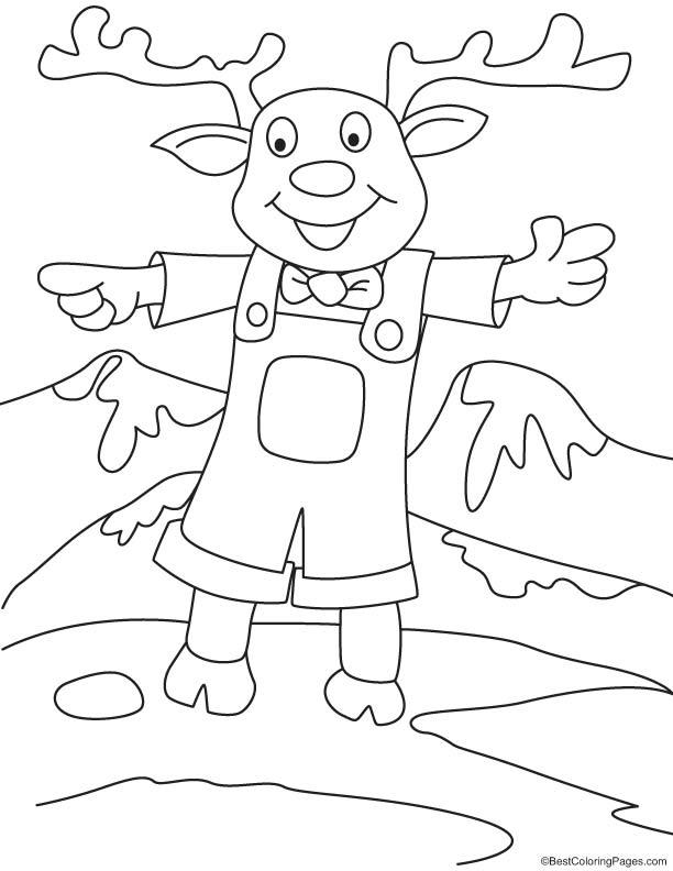 Reindeer jack coloring page