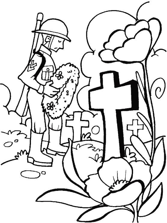 I Honour And Remember You For Great Sacrifice On Remembrance Day Coloring Pages