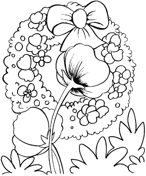 Remember Those Who Cared For You In Their Lifetime Coloring Page - Poppies to remember coloring page