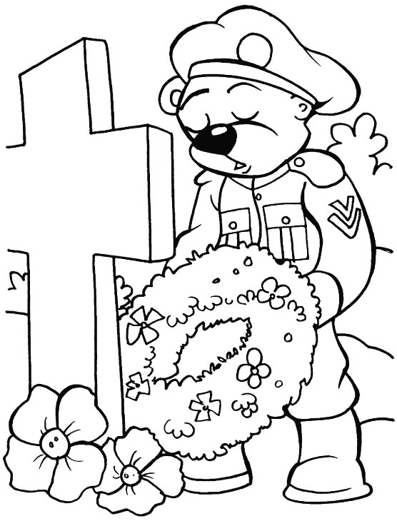 Coloring Pages Remembrance Day Poppies - Poppies to remember coloring page