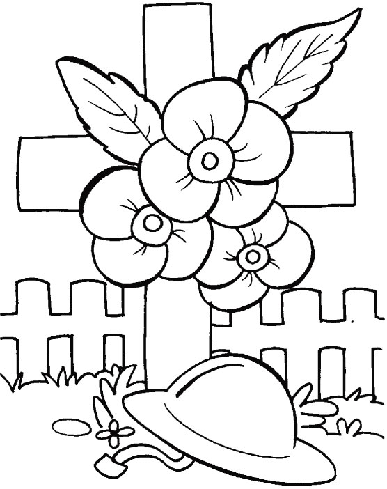 Remembering The Unknown Soldiers Coloring Pages Download Free - Poppies to remember coloring page