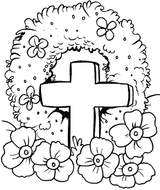 Coloring Pages For Remembrance Day : Anzac day poppies coloring pages