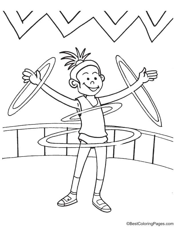 Ring show coloring page